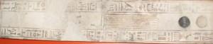 Palette de scribe retrouvée en 1821 dans la tombe Amenhotep à Saqqarah