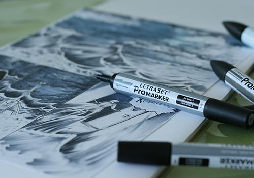 feutre-promarker-letraset-gris-nuances-shades-grey