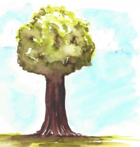 arbre version aquarelle