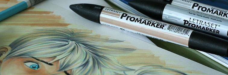 dessin feutre a alcool promarker letraset