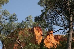 rochers d'ocres roussillon