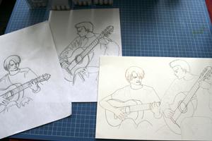 Esquisses crayon Zoro Sanji