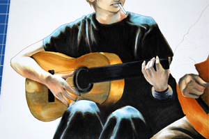 couleur feutre copic guitare sanji