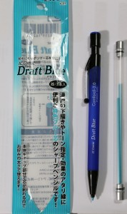 crayon bleu ic draft blue