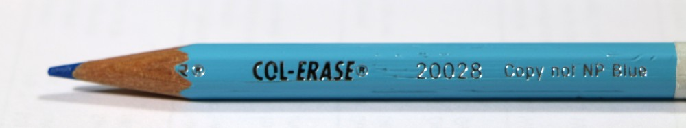crayon bleu inactinique col erase non photo blue-01