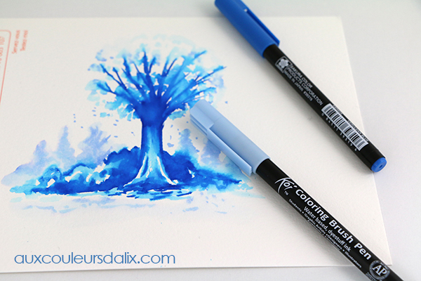 Dessin au Koi Coloring Brush Pen