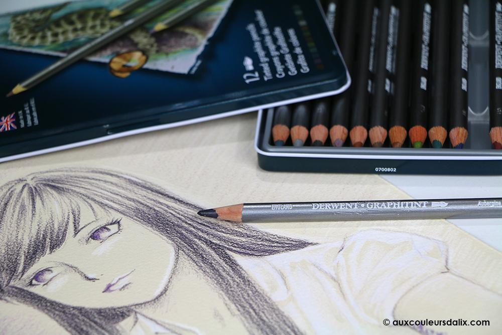 crayon aquarelle derwent graphitint 04