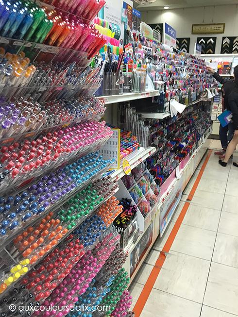 Rayon des stylos