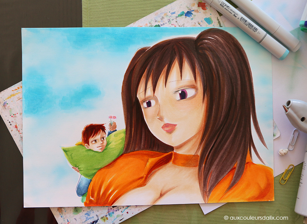 tutoriel final copic ciel