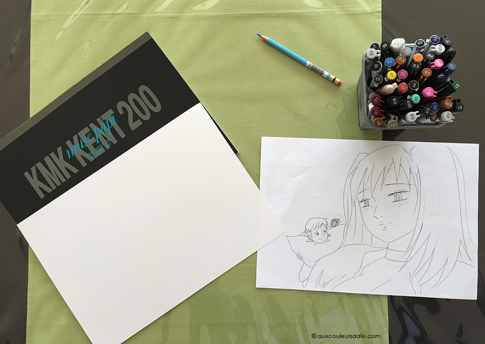 tutoriel feutre copic ciel