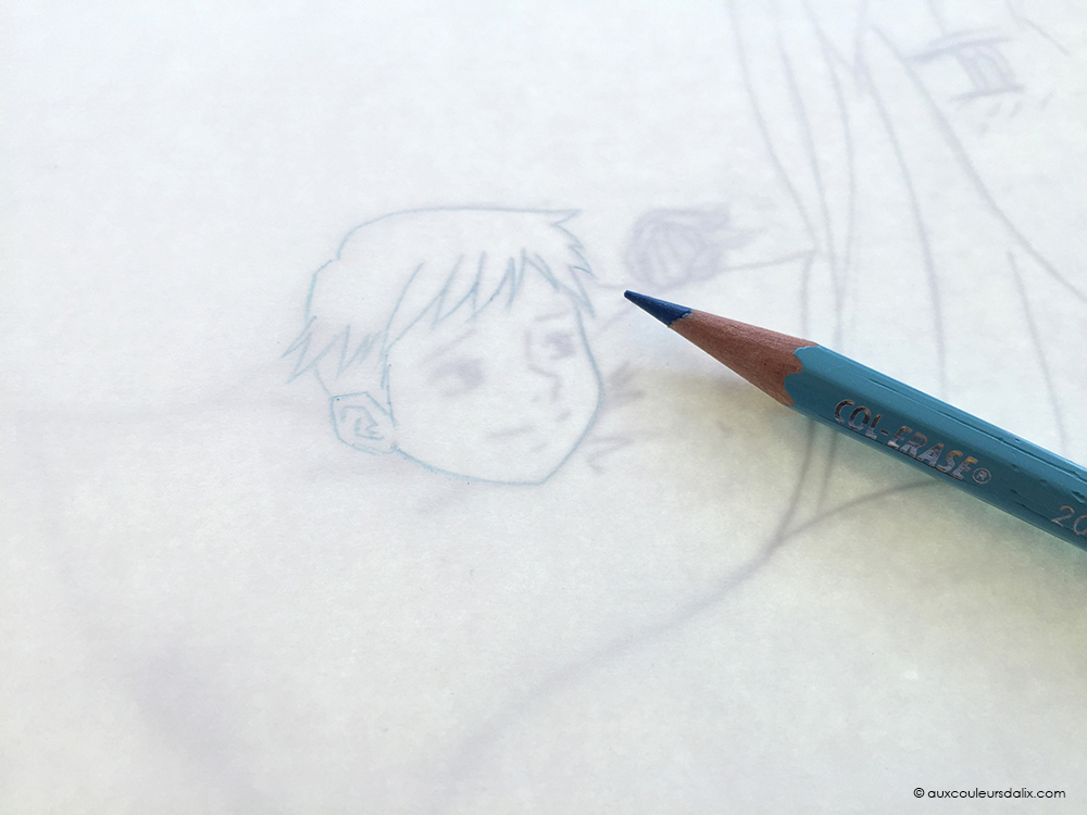 tutoriel crayon bleu copic ciel