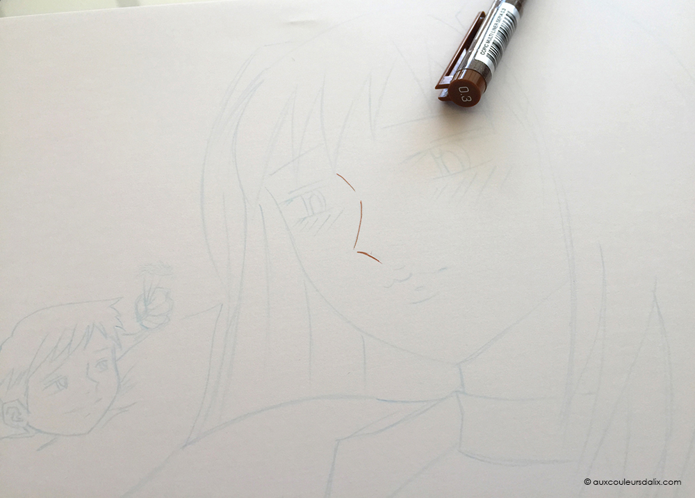 tutoriel multiliner copic ciel