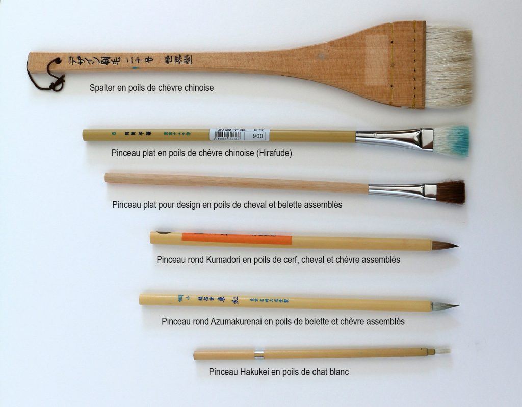 pinceaux japonais pour poster color