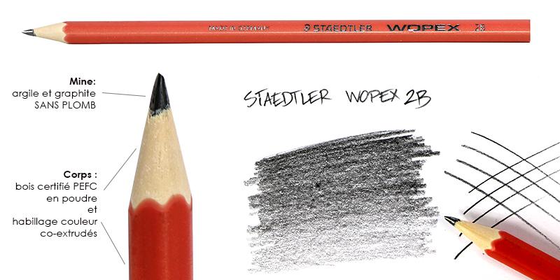Crayon graphite Staedtler Wopex