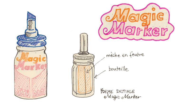 Premier feutre Magic Marker