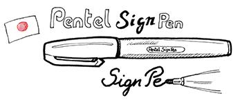 Description Sign Pen de Pentel