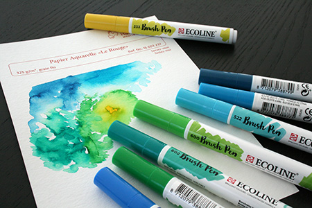 Ambiance feutre Ecoline Brush Pen