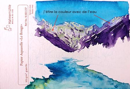 Relief montagneux avec feutre Ecoline