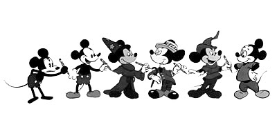 Evolution du dessin de Mickey
