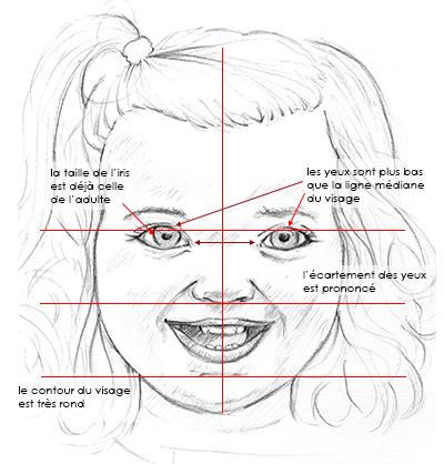 Proportions du visage enfant