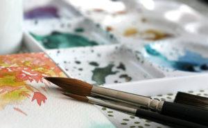 Aquarelle avec pinceau série 7