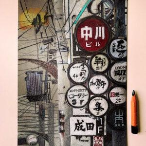 panneaux japonais sur paint on