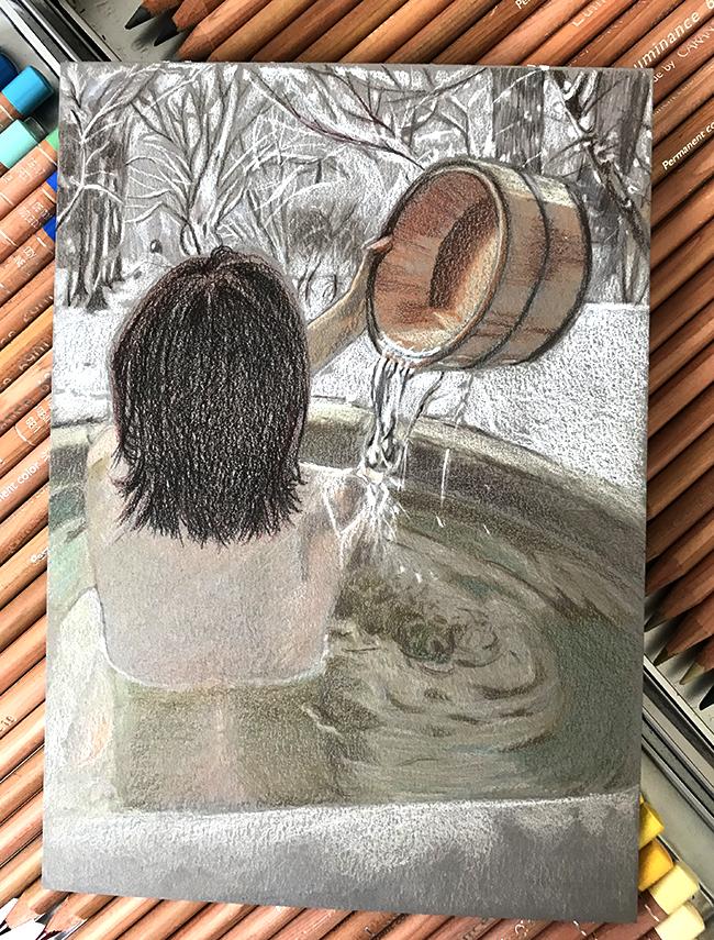 papier paint on luminance bain