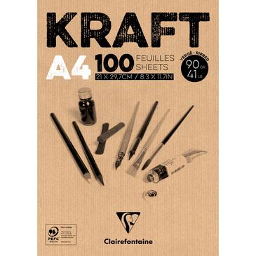 Kraft Clairefontaine en bloc de papier