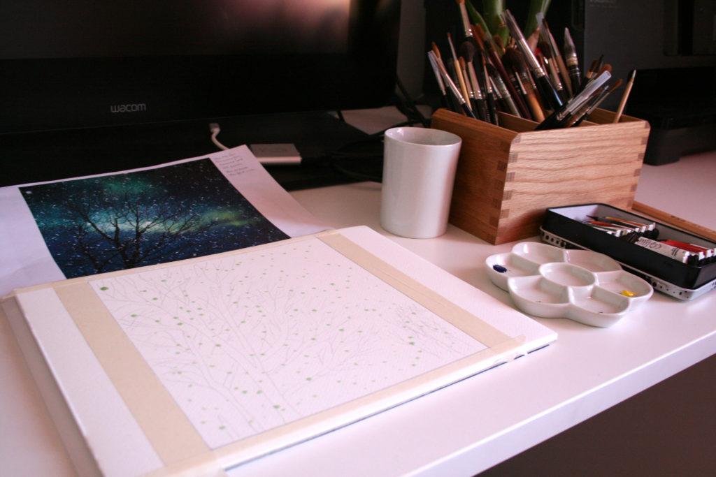 papier héritage matériel peinture
