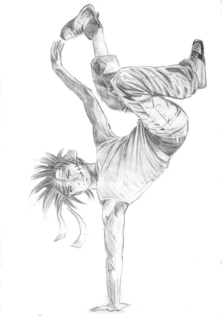 mains chez un breakdancer