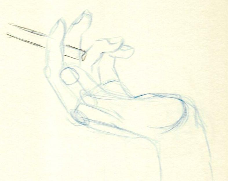 main à la cigarette