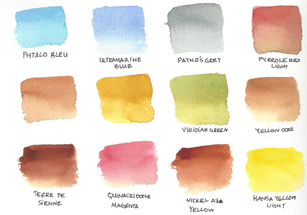 nuancier aquarelle Qor