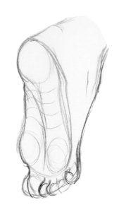 pied en extension