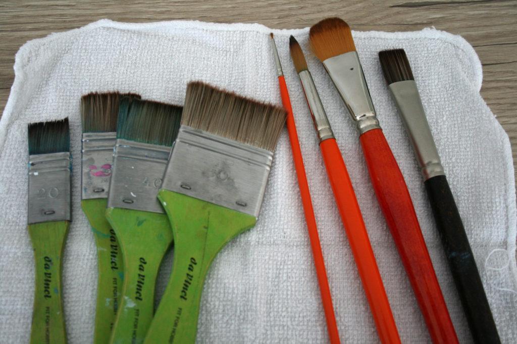 pinceaux pour acrylique