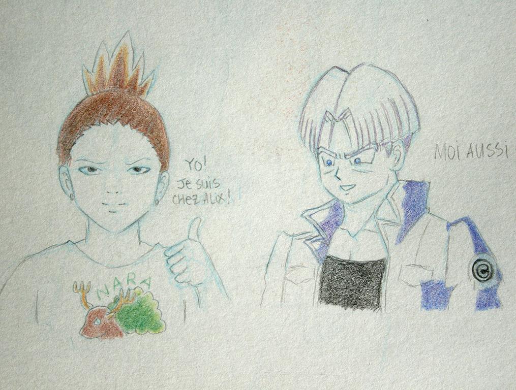 Shikamaru et Trunks au crayon Karat