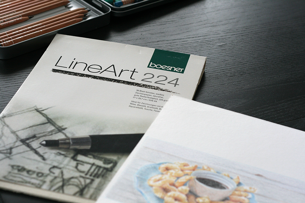 Bloc de papier Boesner LineArt 224