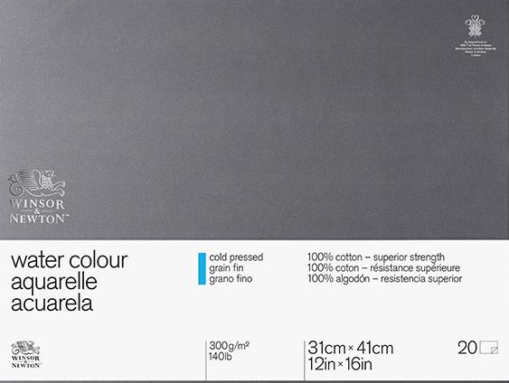 Test du papier aquarelle Winsor & Newton 100% coton