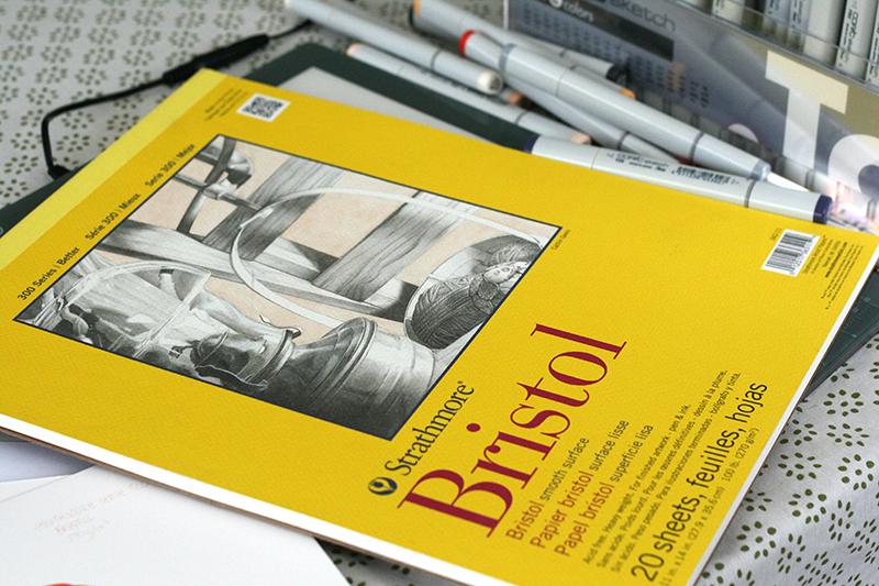 Bloc de papier bristol Strathmore série 300 smooth surface
