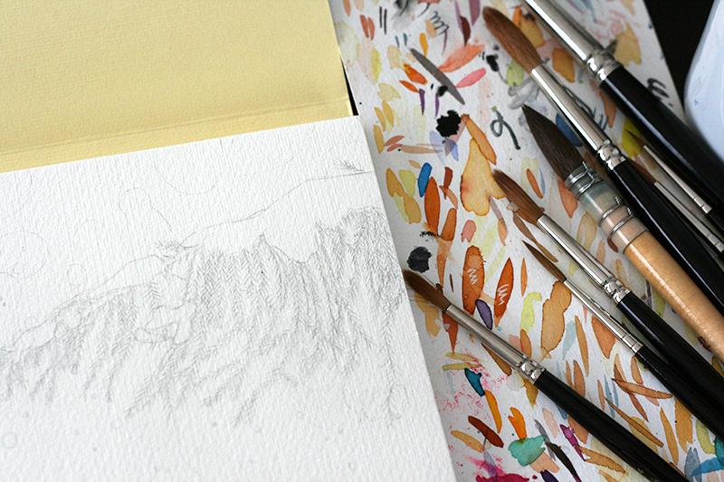 Esquisse sur papier Fabriano