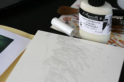Application drawing gum sur feuille