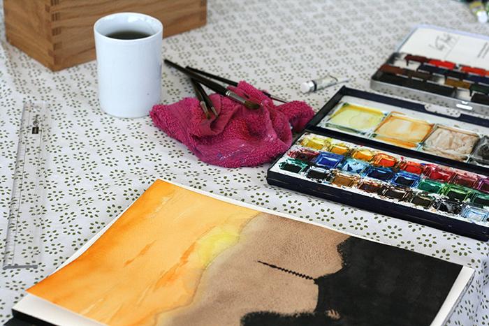 Test sur papier aquarelle Saunders Waterford