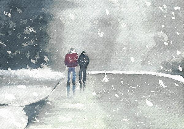 Peinture avec drawing gum