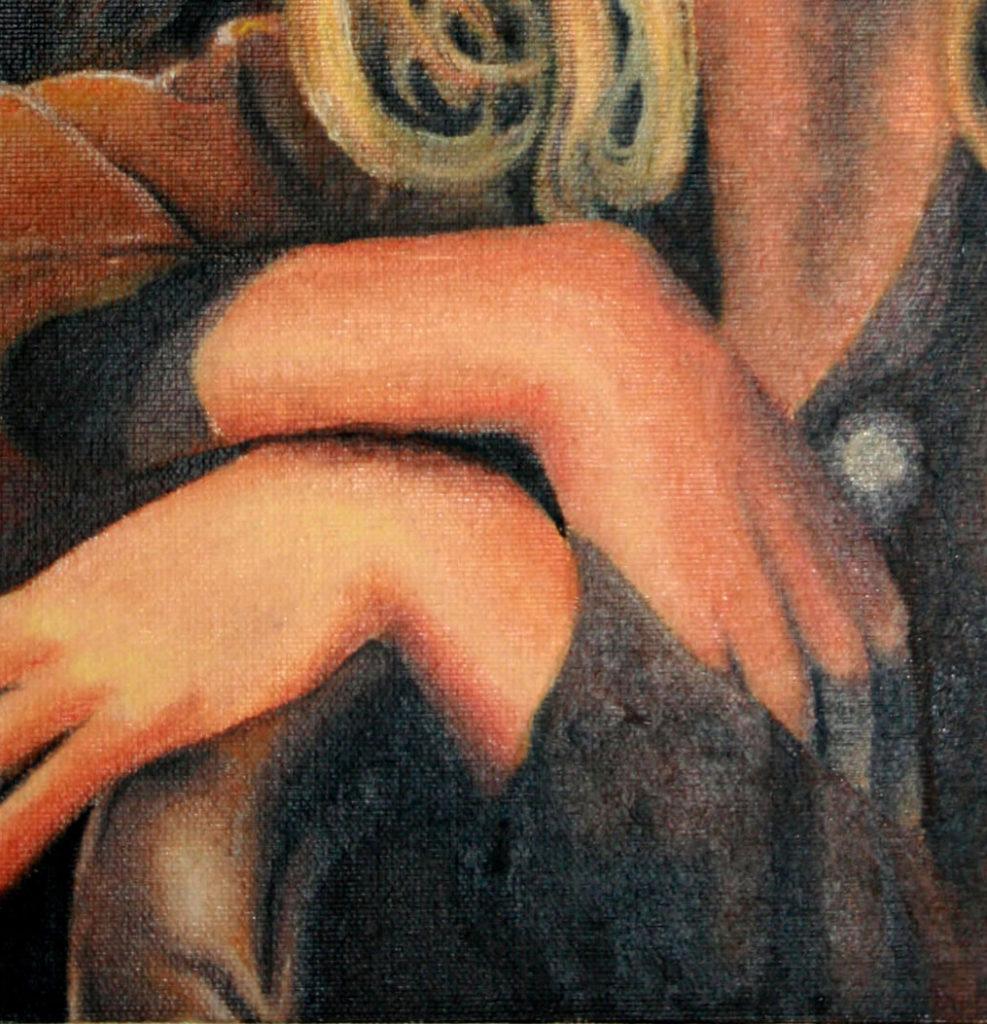 mains peinture à l'huile