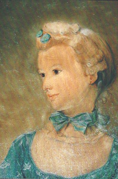 jeune fille à la peinture à l'huile