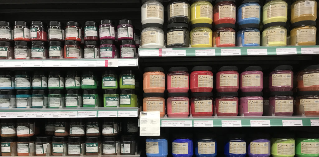 rayon pigments magasin