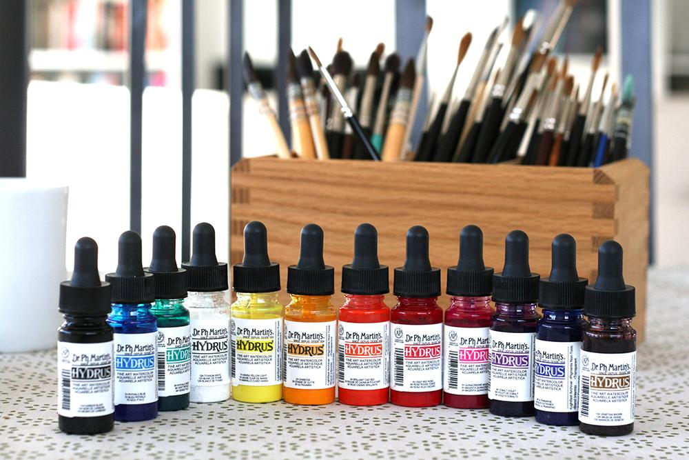 Couleurs d'aquarelle Hydrus de Dr. Ph. Martin's