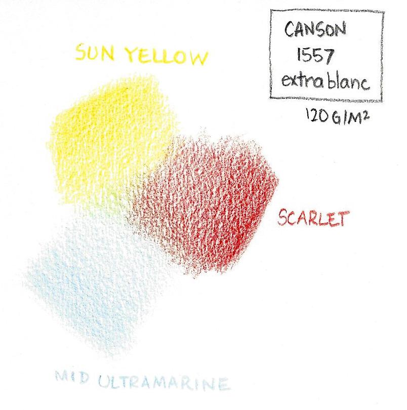 Test de couleurs sur papier Canson