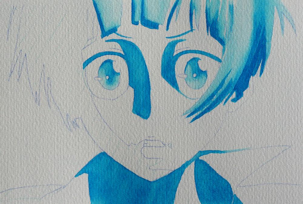 Colorisation monochrome au feutre Molotow Aqua Color Brush