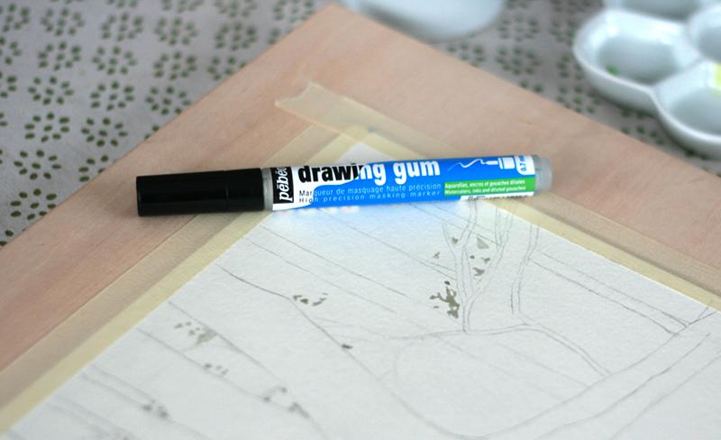 Drawing Gum Pébéo avant aquarelle Blockx