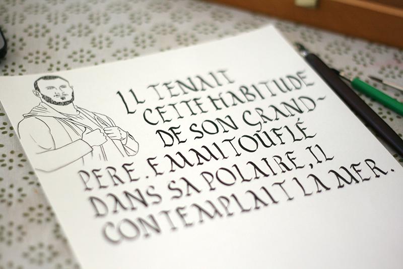 calligraphie Rustica sur papier Sennelier